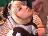 Bukkake loving blonde teen girl swallows part4