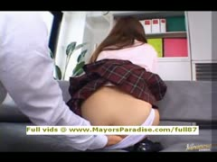 Miyu Hoshino innocent Chinese schoolgirl being licked