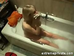 spied-on-my-blonde-mum-fingering-in-bath