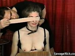 Kinky Milf Is Sex Slave In Weird Bondage Part1