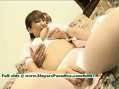 Myuu Hasegawa innocent pretty chinese girl gets teased