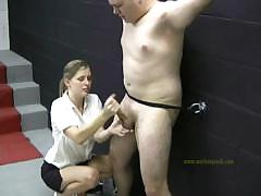 bad-man-is-naked-as-he-is-punished-by-a-clothed-mistress