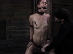 tied-down-nipple-clamped-sub-clit-toyed