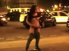 Amateur Girl Stripping Outside