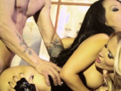 asa akira and jess drake cum swap in threesome