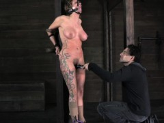 hogtied-busty-bdsm-sub-caned-roughly