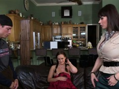 Stepmom Eva Karera teaches how to fuck