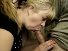 Russian Mature Wife Sitll Gives Blowjobs