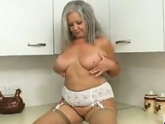 naughty granny in the kitchen granny sex movies