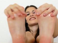 cute-brunette-posing-and-teasing-plus-foot