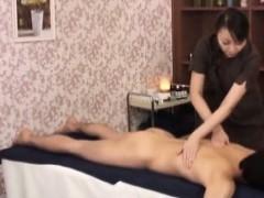 Subtitled CFNM Japanese mummy masseuse taint rubdown