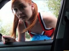 hitchhiking-cheerleader-receives-a-facial-after-hard-fucking
