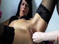 horny-milf-fucks-a-huge-bottle-and-rubber-fist