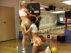 cindy-and-amber-humping-each-other-in-the-gym