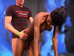Cum Swallowing Ebony Slut