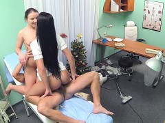 doctor-fucks-nurse-and-cleaning-lady-in-fake-hospital
