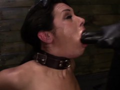 Wam Strapon Lover Tied Up And Gagging Closeup