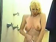 Blonde Showering And Masturbating Classic