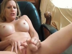 busty-blonde-playing-with-her-dildo