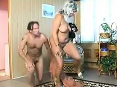 Strange And Horny Russian Couple Having Sex