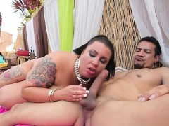 Busty housewife extreme gang bang