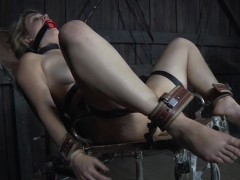 restrained-bdsm-sub-caned-by-black-master