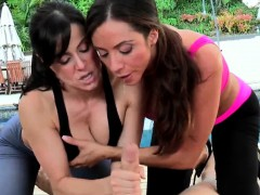 working out cfnm milfs suck and fuck peeping tom