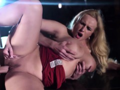 Busty squirting stripper receives major load