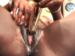 White Perv Teases A Sweet African Pussy With His Fingers