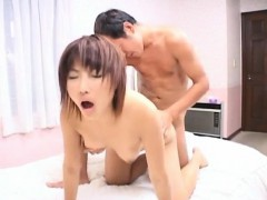 Mirai Hoshino licks and sucks cock she gets in her shaved