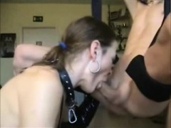 Horny Amateur Milf Sucks His Hard Cock