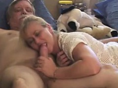 Granny Giving Her Husband A Blowjob