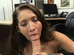 gorgeous-brunette-amateur-gulps-dick-in-pawn-shop