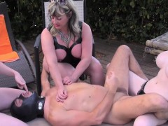 English Dommes Pegging And Humiliating Sub