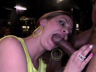 CFNM party with my ex sucking black cock