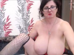 Amateur Granny With Bigtits Teasing At Home