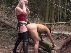 rough-english-domme-humiliating-sub-outdoors