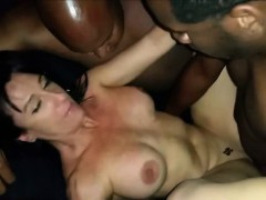 Hot Milf Fucked By Two Black Stallions