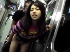 Aya Matsuki Is Roughly Fucked By Stranger In Dark In Subway