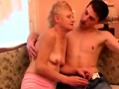Russian Granny Got Young Lover