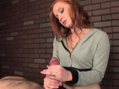 CBT masseuse dominates and ruins subs handjob