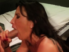 Busty Milf Cockrides For Bail Before Facial