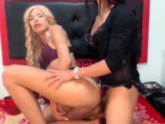 Two Gorgeous Shemales Having Sex On Webcam