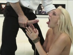 Blonde Rope Bondage Extreme Face Fucking