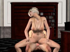 classy 3d babe blows and fucks the godfather