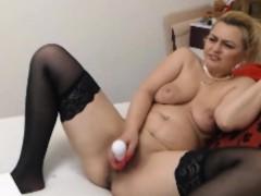 Milf Love Dildo In Butt And Cunt