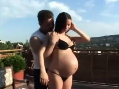 Pregnant Brunette