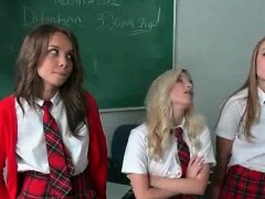 School Blonde Pussy Licked On Teachers Desk