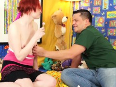 cute-redhead-abandons-her-toys-for-dick-after-her-little