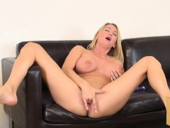 sexy blake rose displays her huge hooters and takes her muffin to orgasm